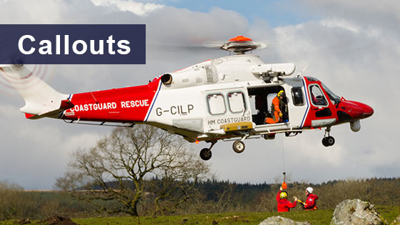 CBMRT callout with HM Coastguard Helicopter