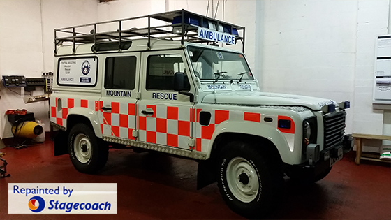 Our Landrover Lima is given a makeover by Stagecoach Wales.