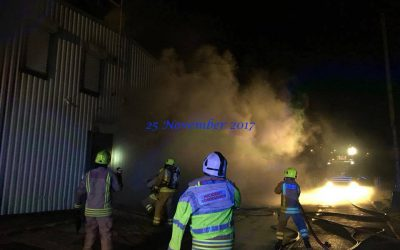 Fire at our rescue base